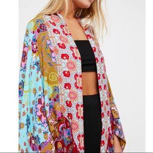 Little Wing Mixed Print Kimono